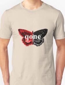 Animal Logo Series - qone - Red on Black Butterfly Unisex T-Shirt