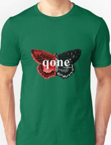 Animal Logo Series - qone - Red on Black Butterfly T-Shirt