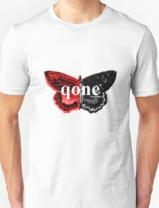 Animal Logo Series - qone - Red on Black Butterfly T-Shirt