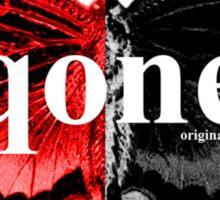 Animal Logo Series - qone - Red on Black Butterfly Sticker