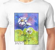 Daisy Flowers - Watercolour Unisex T-Shirt