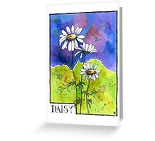 Daisy Flowers - Watercolour Greeting Card