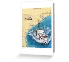 USCG RELIANCE TX Nautical Chart Map Cathy Peek Greeting Card