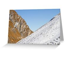 Slopes Greeting Card