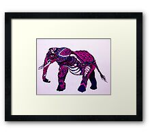 Paisley The Elephant Framed Print