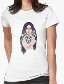 Wolf Mama Womens Fitted T-Shirt