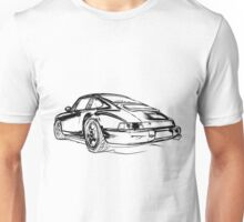 Porsche 964 RS Rear black Unisex T-Shirt