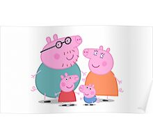 Peppa Pig Family Portrait  Poster