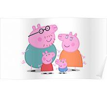 Peppa Pig Family Portrait  Poster