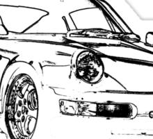Porsche 964 RS Front black Sticker