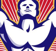 Crossfit Training Athlete Rings Retro  Sticker