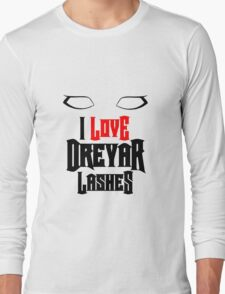 I love Dreyar Lashes Red Long Sleeve T-Shirt