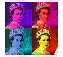 Queen Elizabeth II - Pop Art Poster
