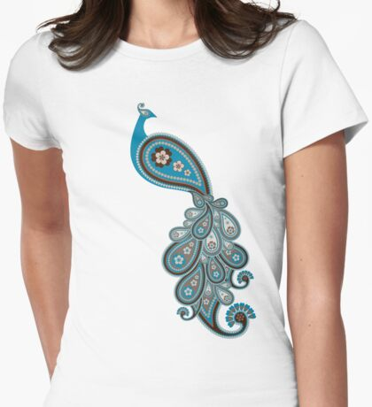 Paisley Peacock 1 Womens Fitted T-Shirt