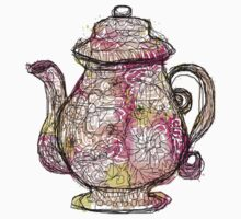 Watercolored Teapot by NymphaeaNerd