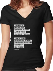 The Wolf On The Hill Women's Fitted V-Neck T-Shirt