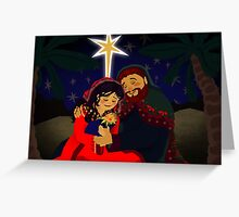 Gilded Nativity Greeting Card