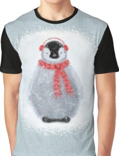 Chilly Little Penguin Graphic T-Shirt
