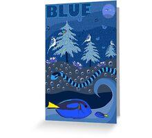 Blue Nature Scene Greeting Card