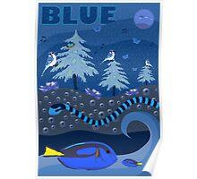 Blue Nature Scene Poster