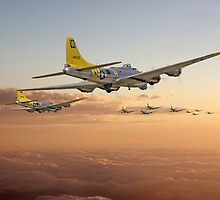 B17 - 486th - Day is Done by Pat Speirs