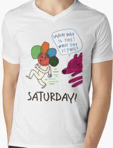 Saturday! Mens V-Neck T-Shirt