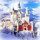 Neuschwanstein castle in winter by ©The Creative Minds