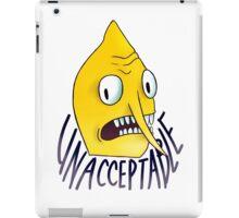 "Lemongrab ""Unacceptable"" || ScarlettDesigns iPad Case/Skin"
