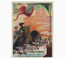Vintage poster - Rome One Piece - Short Sleeve