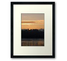 Sun Pillar Framed Print