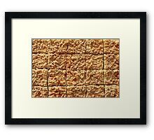 cheese pie Framed Print