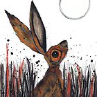 MOONGAZING HARE by Hares & Critters
