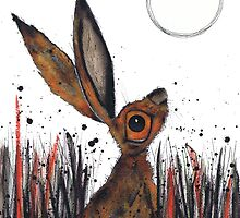 MOONGAZING HARE by Hares and Critters