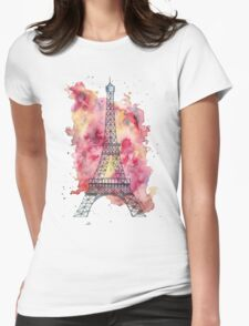 The Eiffel Tower Womens Fitted T-Shirt