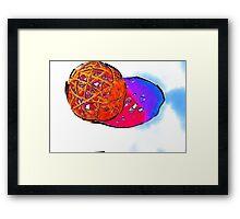 hot ball of fire Framed Print