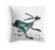 HARE IN A HURRY! Throw Pillow