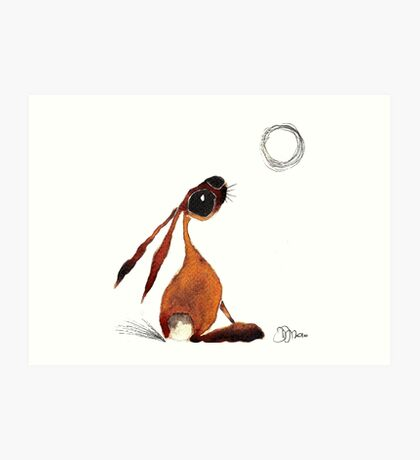 MOONGAZING HARE Art Print