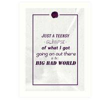 Big, bad world Art Print