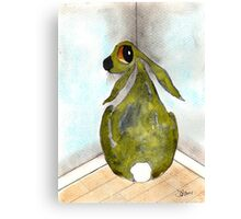 HARE IN THE NAUGHTY CORNER Canvas Print