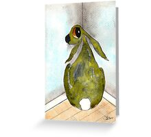 HARE IN THE NAUGHTY CORNER Greeting Card