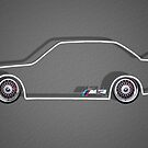 BMW E30 M3 POSTER by Benjamin Whealing