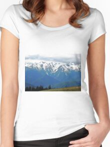 Olympic Mountains at Hurricane Ridge Women's Fitted Scoop T-Shirt