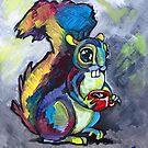 Caffeinated Squirrel by Ellen Marcus