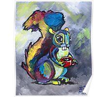 Caffeinated Squirrel Poster
