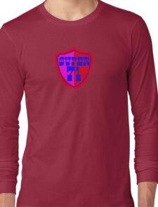 Super 71 - Shield - Red Long Sleeve T-Shirt