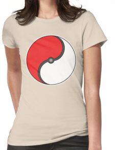 Poke-Ying-Yang Womens Fitted T-Shirt