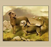 Bedlington Terrier General Greeting Card by Yesteryears