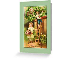 Boy and Girl Birthday Greetings Greeting Card