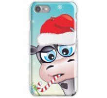 Critterz - cow Christmas spirit iPhone Case/Skin