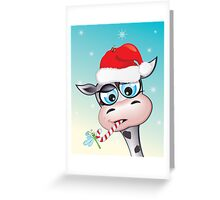 Critterz - cow Christmas spirit Greeting Card